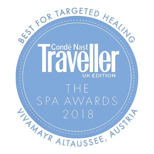 "VIVAMAYR Altausee won the Conde Nast Traveller Award 2018 for ""Best Targeted Healing"""