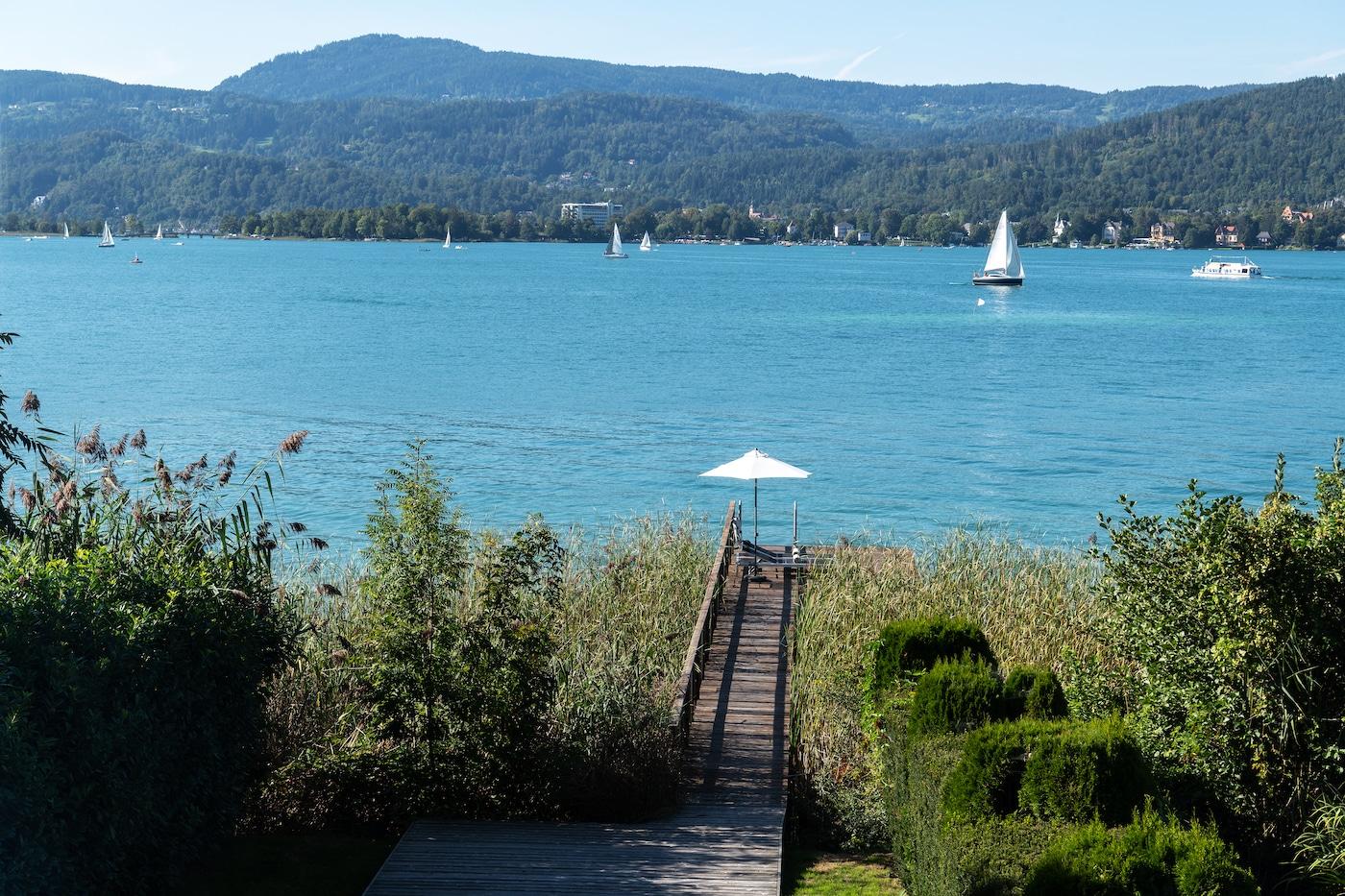 stunning lake view from Villa VIVAMAYR Maria Wörth