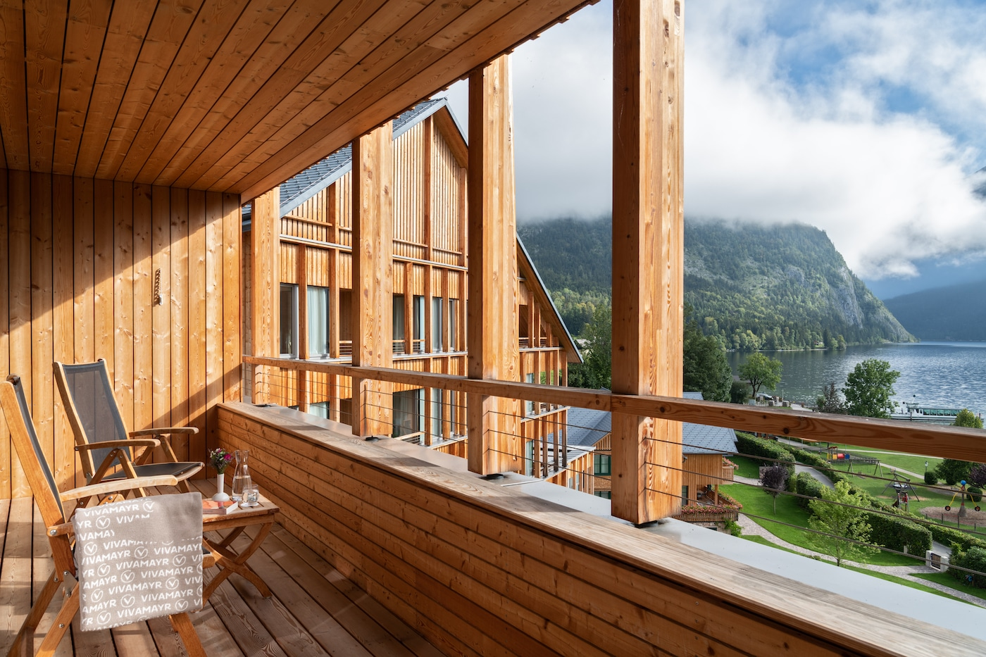 Balcony from Junior Suite with lake view VIVAMAYR Altausee