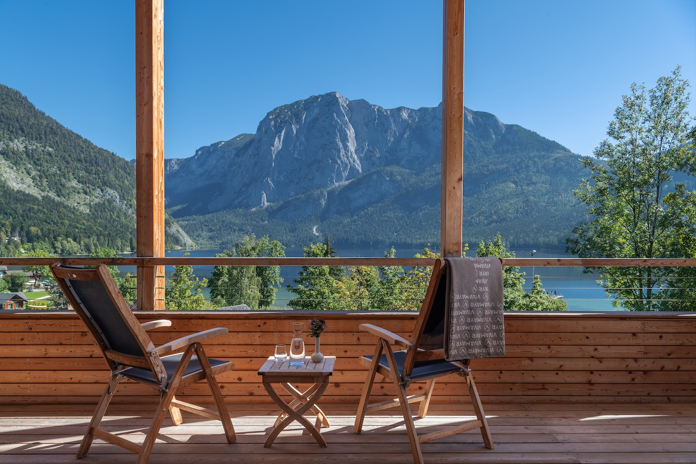 Balcony from Penthouse with lake&mountains view VIVAMAYR Altaussee