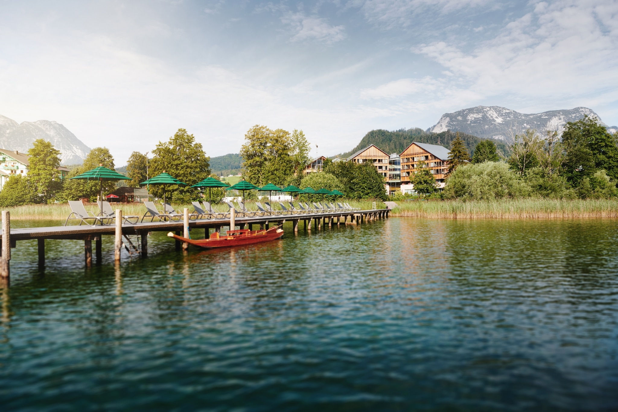 View at Vivamayr Altaussee from the lake