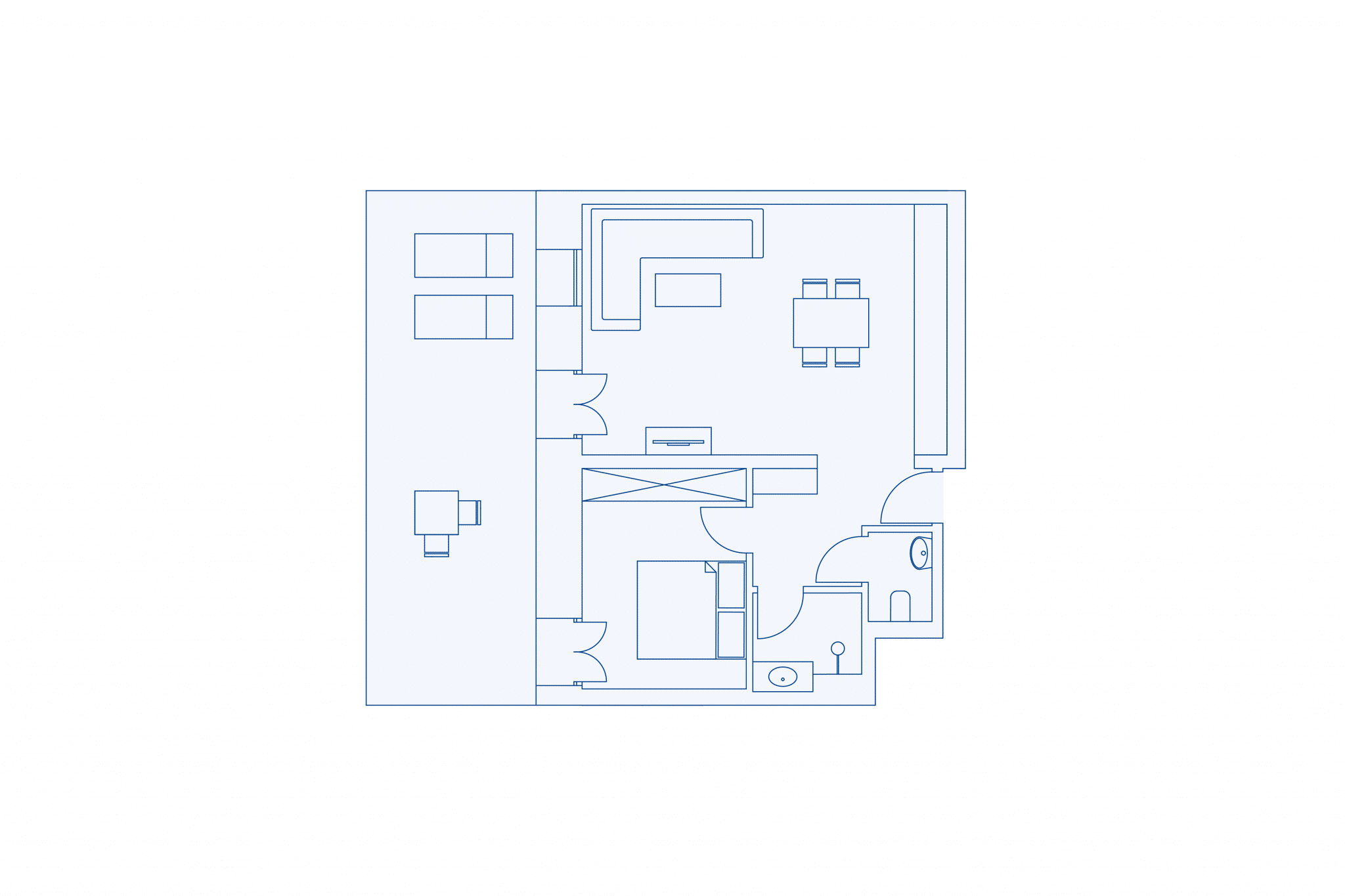Room layout park residence 120 at VIVAMAYR Altaussee
