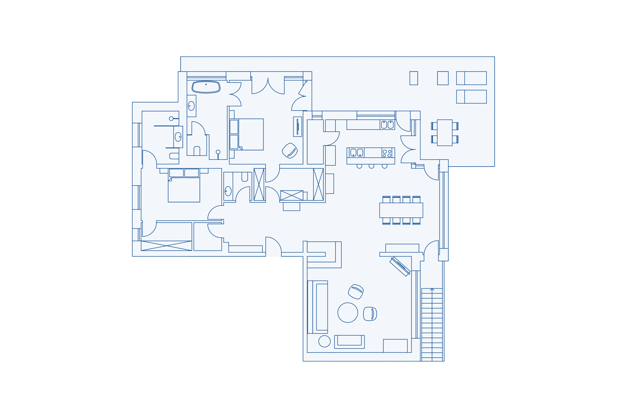 Room layout park residence 160 at VIVAMAYR Altaussee
