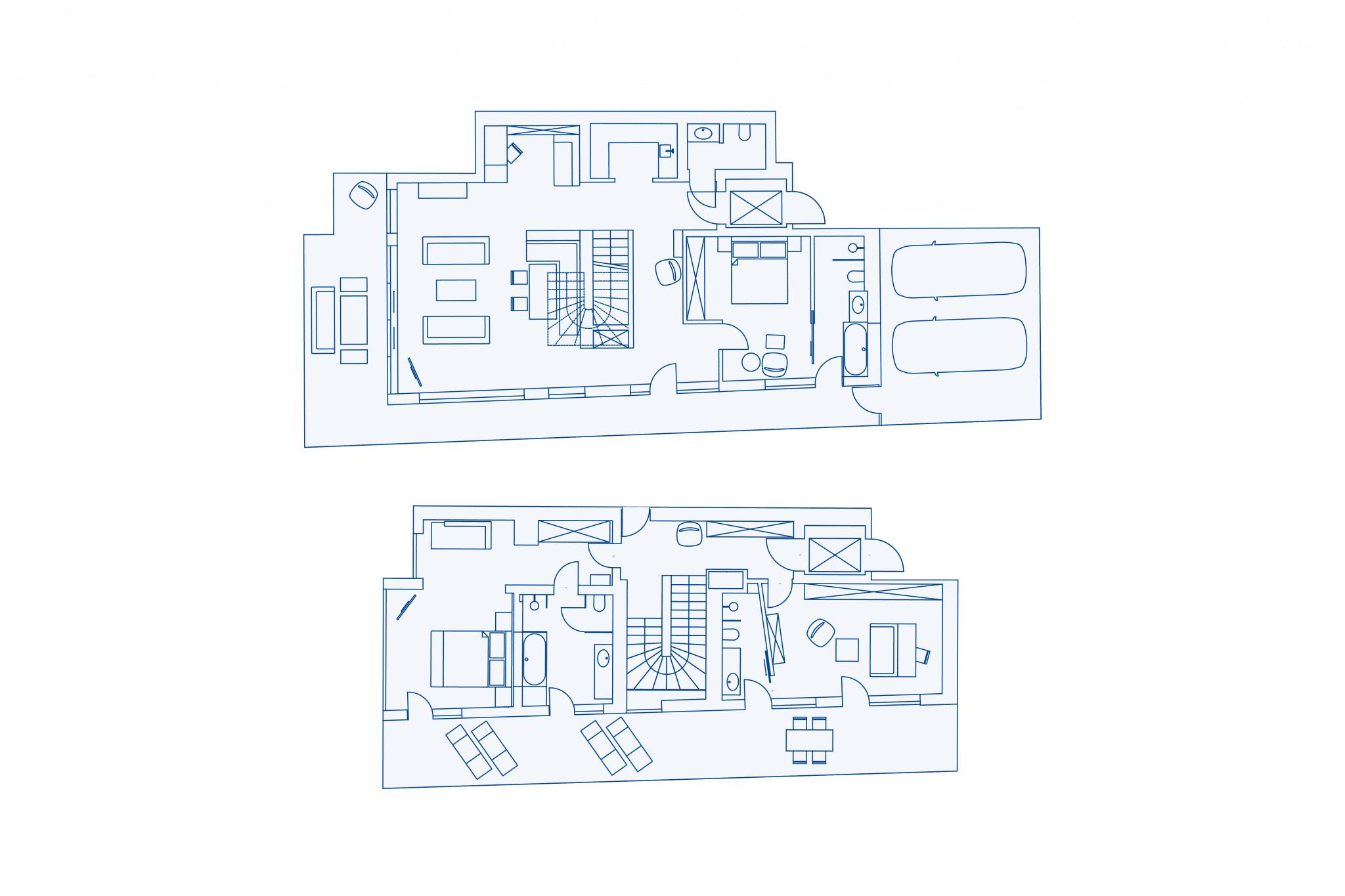 Room layout Villa at VIVAMAYR Maria Wörth
