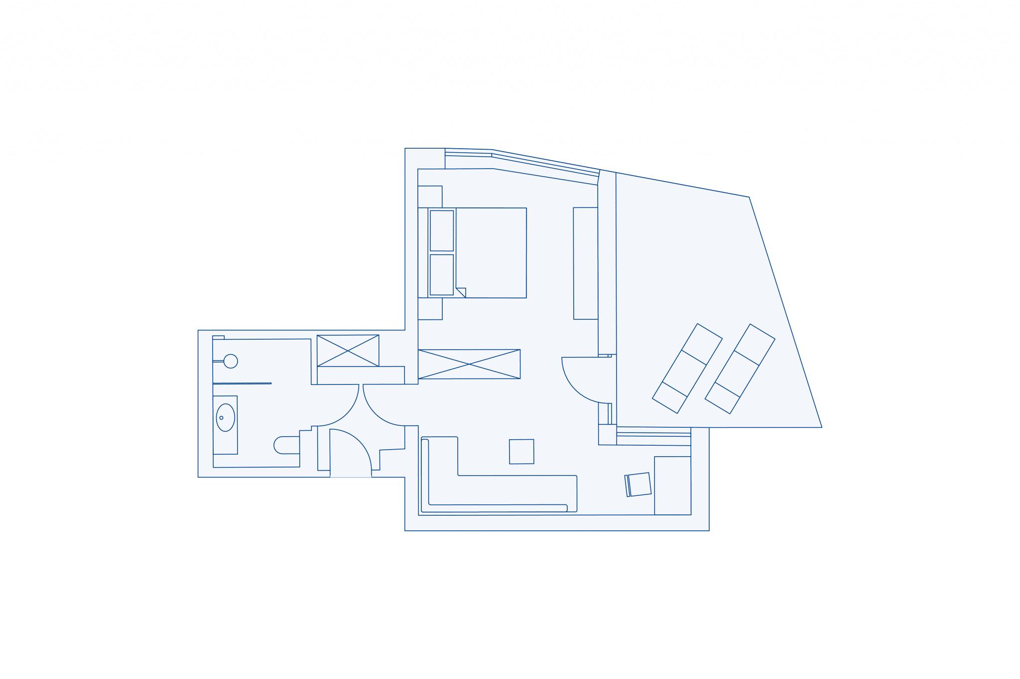 room layout junior suite at VIVAMAYR Maria Wörth