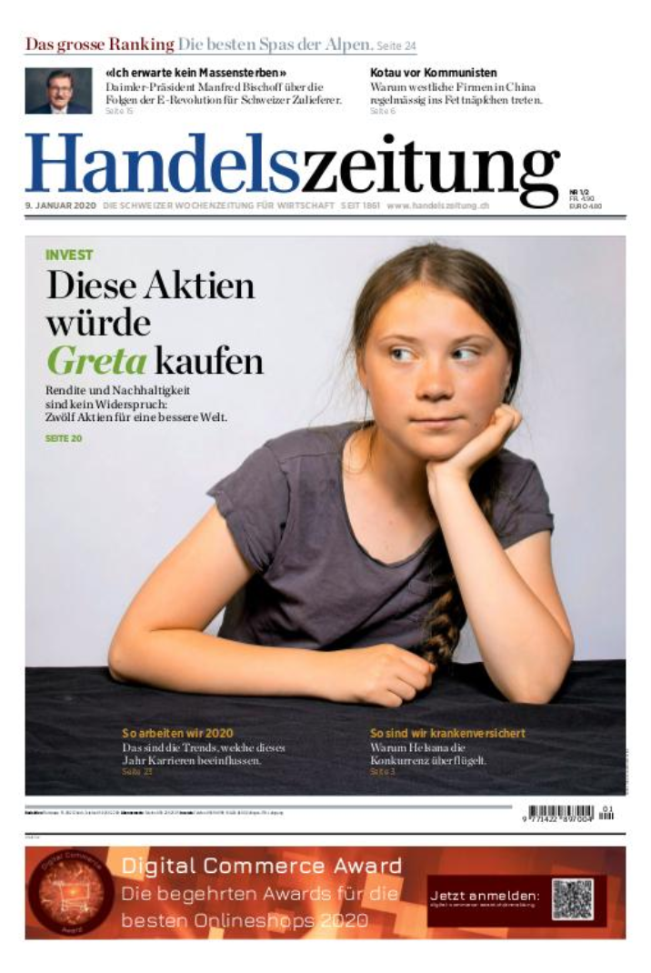 Handelszeitung Cover 9th January 2019