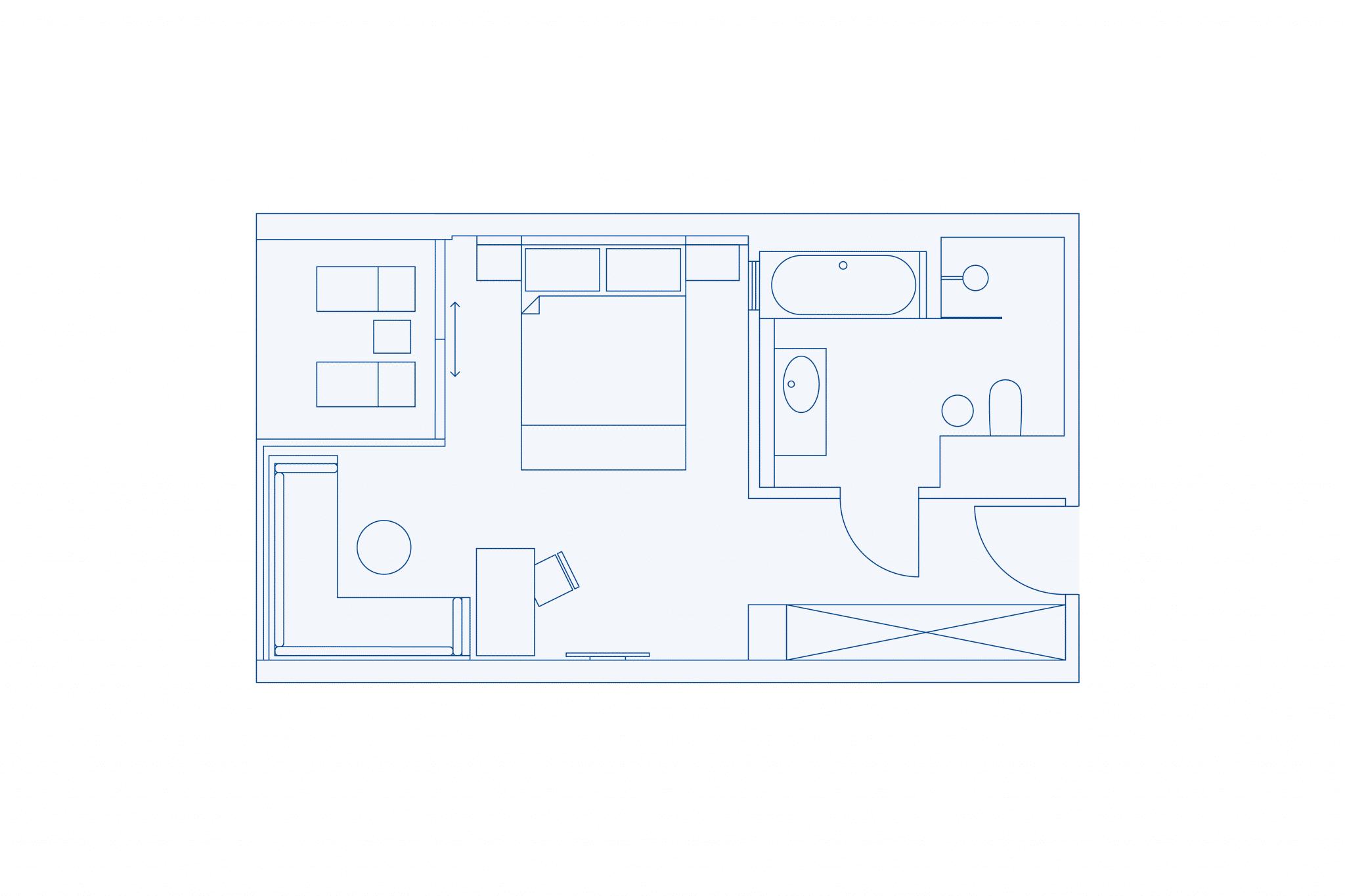 Room layout comort room at VIVAMAYR Altaussee